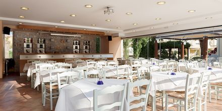 Restaurang på hotell Triton i Agii Apostoli, Kreta.
