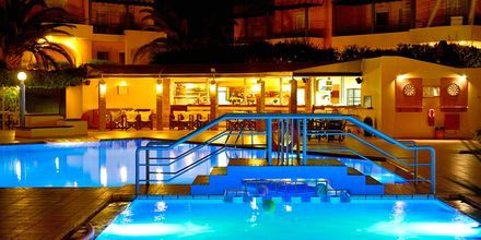 Hotell Triton i Agii Apostoli på Kreta, Grekland.