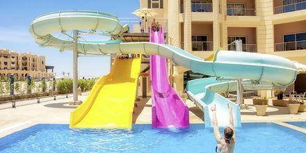 Vattenrutschkanor på hotell Tropitel Sahl Hasheesh, Egypten.
