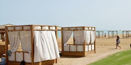 Stranden vid hotell Tropitel Sahl Hasheesh i Sahl Hasheesh, Egypten.