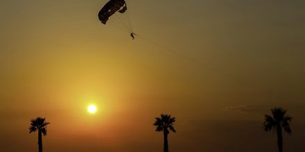 Paragliding i Tucepi, Kroatien.