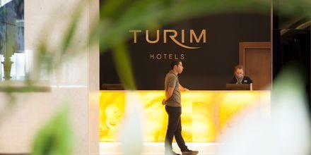 Reception på hotell Turim Santa Marina i Funchal på Madeira.