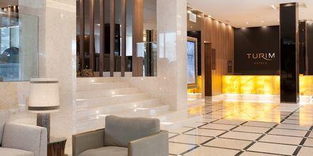 Lobby på hotell Turim Santa Marina i Funchal på Madeira.