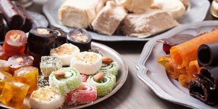 Smaka på turkish delight under semestern i Turkiet.