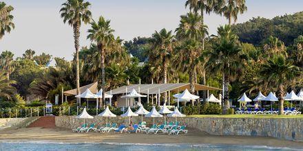 Stranden vid hotell Turquoise i Side, Turkiet.