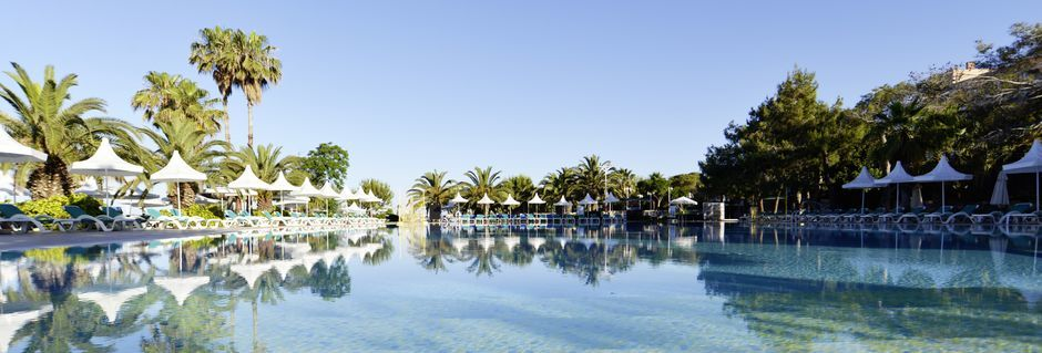 Poolområde på hotell Turquoise i Side, Turkiet.