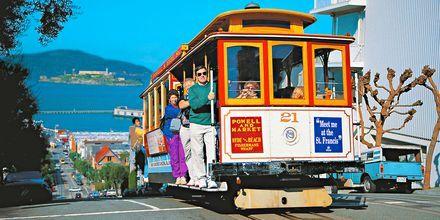 De gamla spårvagnarna i San Francisco