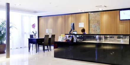 Receptionen på hotell Valle Mar i Puerto de la Cruz på Teneriffa.