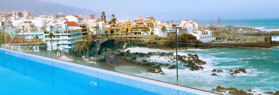 Poolen på hotell Valle Mar i Puerto de la Cruz på Teneriffa, Kanarieöarna.