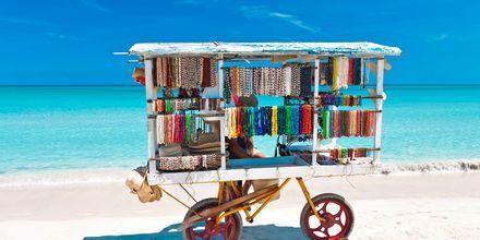 Strandförsäljning i Varadero, Kuba.