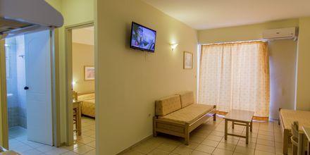 Tvårumslägenhet på hotell Varvara's Diamond i Rethymnon, Kreta.