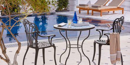 Restaurang på Vasia Boulevard i Hersonissos, på Kreta.