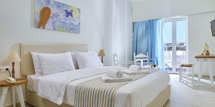 Dubbelrum på hotell Vasia Ormos i Agios Nikolaos på Kreta, Grekland.