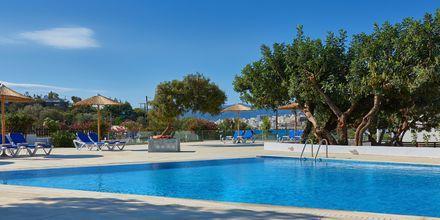 Poolen på hotell Vasia Ormos i Agios Nikolaos på Kreta, Grekland.