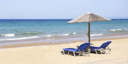 Banana Beach vid Vasilikos på Zakynthos.