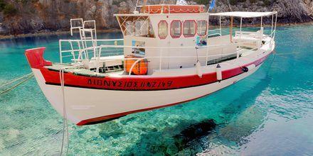 Kristallklart vatten på Zakynthos i Grekland.
