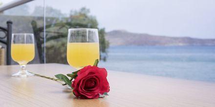 Utsikt från hotell Veli i Kato Stalos på Kreta, Grekland.