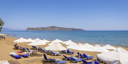 Stranden vid hotell Veli i Kato Stalos på Kreta, Grekland.
