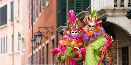 Karneval i Venedig.