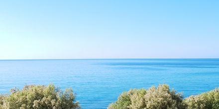 Utsikter från hotell Veronica Beach i Votsalakia på Samos, Grekland.