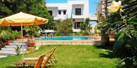 Poolområde på Villa Dora i Platanias på Kreta, Grekland.