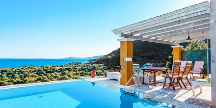 Pool på hotell Villa Eleonas i Votsalakia på Samos, Grekland.