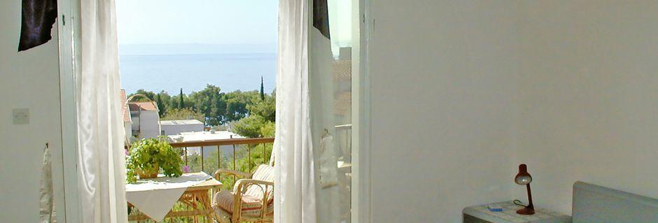 Villa Mare i Tucepi på Makarska rivieran, Kroatien.