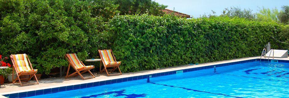 Poolen på hotell Villa Marie i Sivota, Grekland.