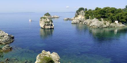 Utsikt mot havet från Villa Rossa Area Boutique Beach Resort i Parga.