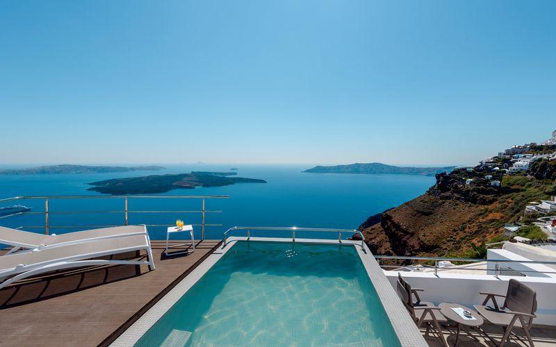 Hotell Vistamare Suites på Santorini.
