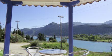 Frukostområde på hotell Vliho Bay Boutique Hotel på Lefkas, Grekland.