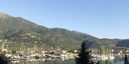 Utsikt från hotell Vliho Bay Boutique Hotel på Lefkas, Grekland.