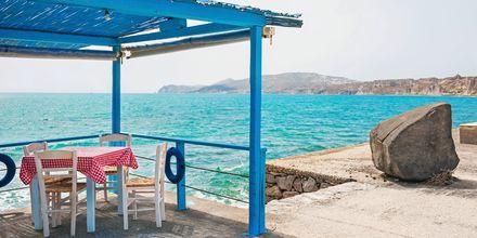 Härliga Vlychada, Santorini, Grekland.