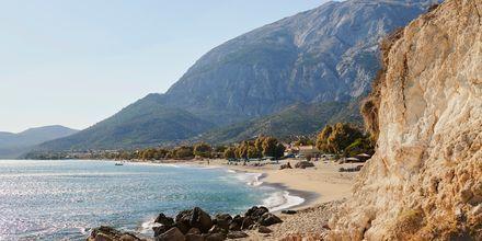 Charmiga Votsalakia på Samos, Grekland.