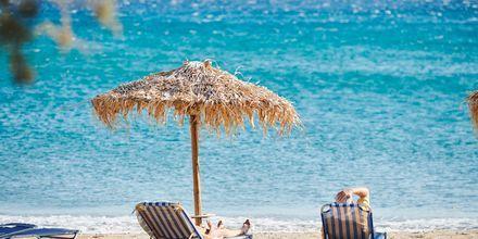 Njut av sköna dagar på stranden i mysiga Votsalakia på Samos, Grekland.