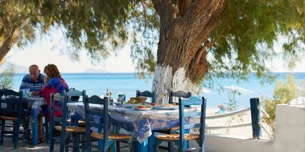 Mysig taverna i Votsalakia på Samos, Grekland.