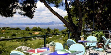 Restaurangen på Waterman Beach Village Bungalow, Brac, Kroatien.
