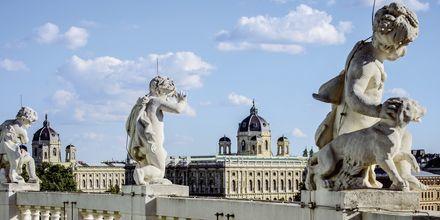 Vacker konst i Wien, Österrike.