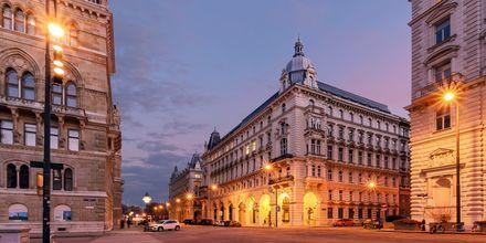 Skymning i Wien, Österrike.