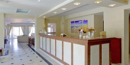 Reception på hotell Windmill i Argassi, Zakynthos.
