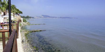Stranden vid hotell Windmill Bay i Argassi, Zakynthos.