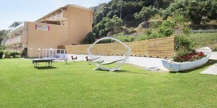 Trädgården på hotell Windmill Bay i Argassi, Zakynthos.