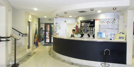 Reception på hotell Windsor i Funchal på Madeira.
