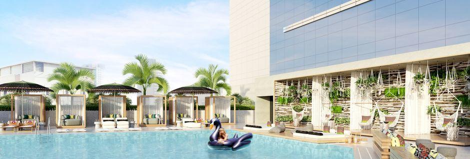 Pool på hotell Zabeel House by Jumeirah The Greens i Dubai.