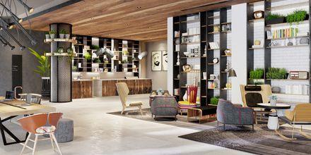 Lobby på hotell Zabeel House by Jumeirah The Greens i Dubai, Förenade Arabemiraten.