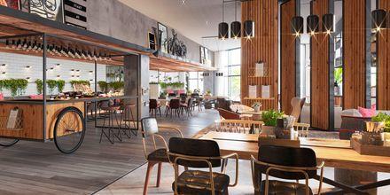 Restaurang Social Club på hotell Zabeel House by Jumeirah The Greens i Dubai, Förenade Arabemiraten.