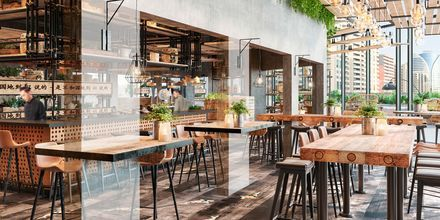 Restaurang Lah Lah på hotell Zabeel House by Jumeirah The Greens i Dubai, Förenade Arabemiraten.