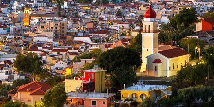 Zakynthos stad sett från byn Bochali.