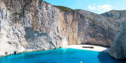 Smugglers wreck på Zakynthos i Grekland.
