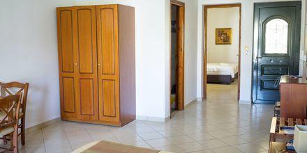 Tvårumslägenhet på Hotell Zephyros Village på Karpathos, Grekland.